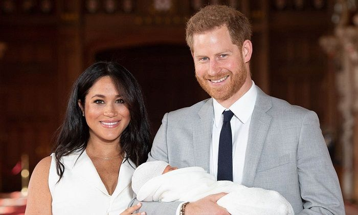 Meghan markle and Prince Harry with son