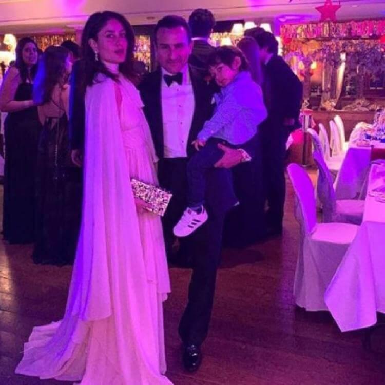 Saif Ali Khan and Kareena Kapoor at New Year celebrations