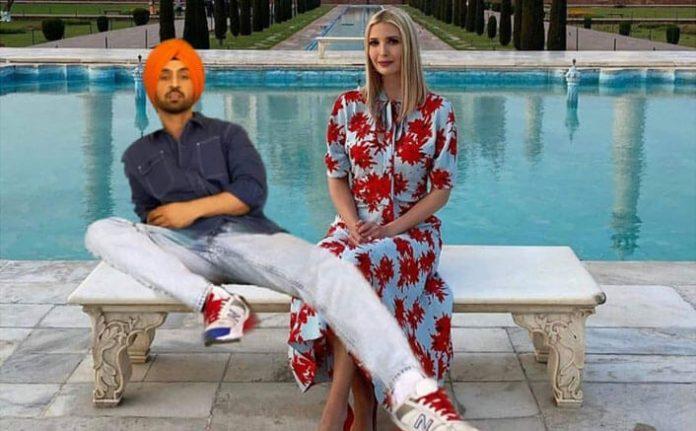Diljit Dosanjh Photoshopped Taj Mahal Pic with Ivanka Trump