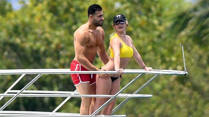 Britney Spears with her boyfriend Sam Asghari