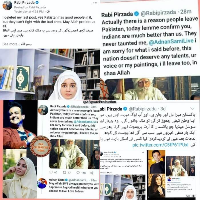 Rabi Pirzada controversies