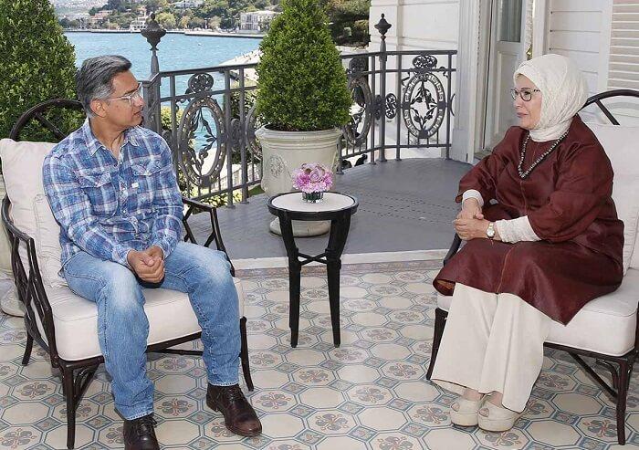 Amir Khan with Emine Erdogan