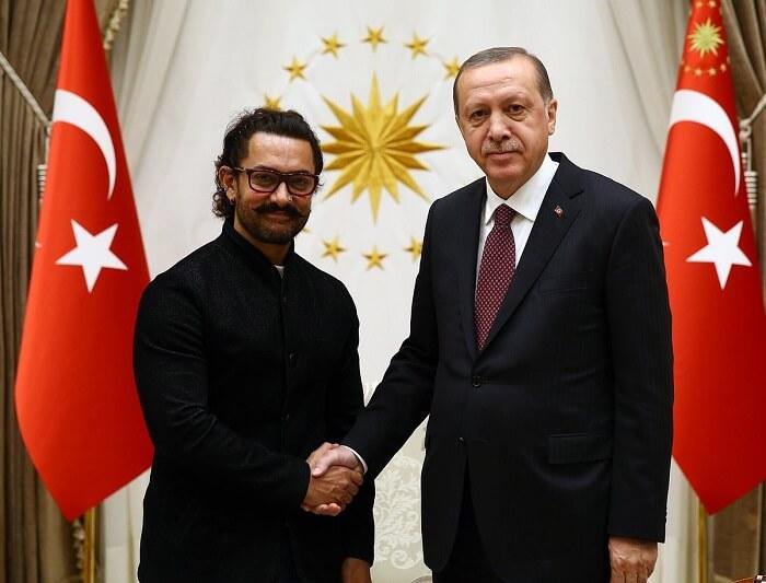 Aamir Khan with Turkey's President Recep Tayyip Erdogan