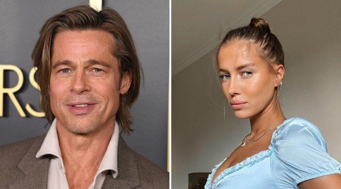 Brad Pitt's rumored Girlfriend Poses Braless on Angelina's Wedding Venue