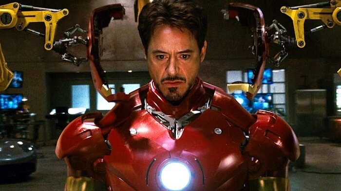 Robert Downey Jr Blinded by Suit