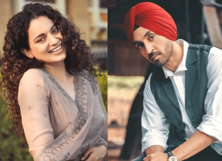 Kangana Ranaut and Diljit Singh Online Fued