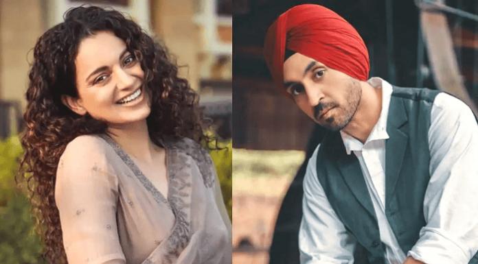 Kangana Ranaut and Diljit Singh Online Fued