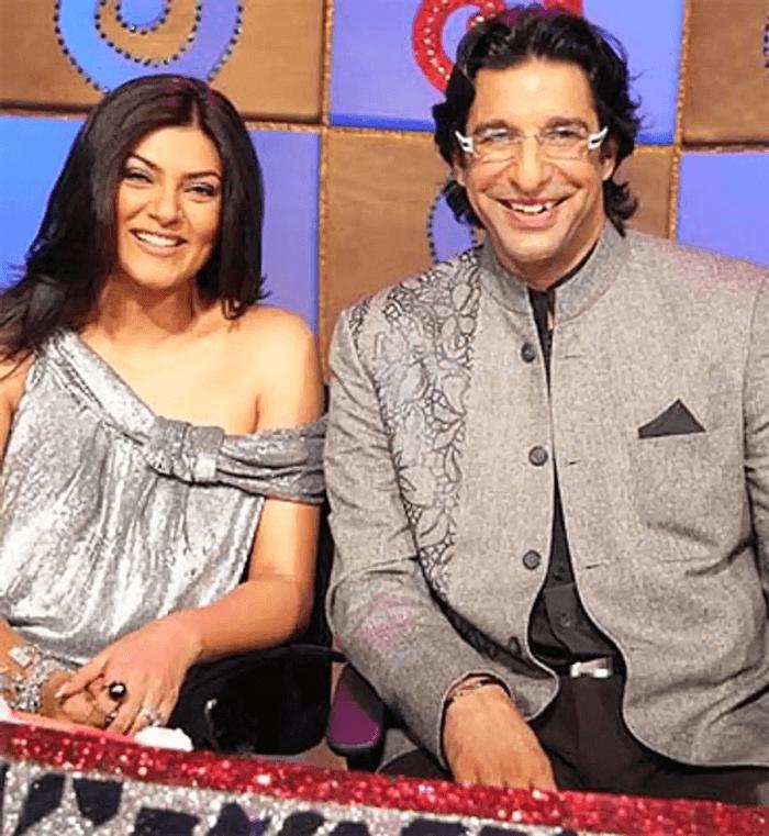 Wasim Akram and Sushmita Sen
